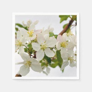 Beautiful White Blossoms Disposable Serviette