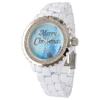 Beautiful White Christmas Rhinestone Watch