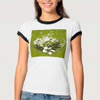 Beautiful white flowers tee shirt