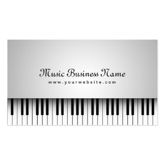 Beautiful White Grand Piano Music Business Card
