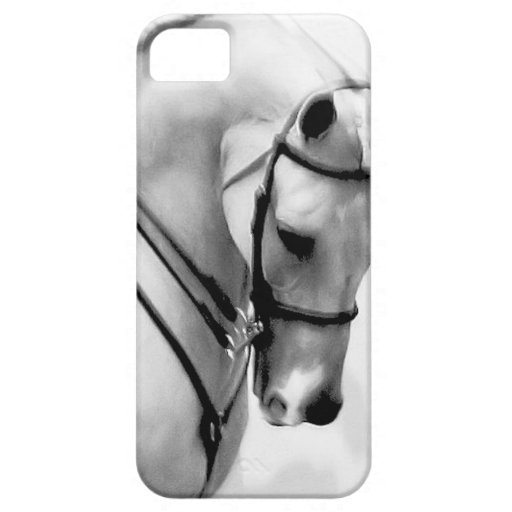 Beautiful white Horse head iPhone 5 Covers