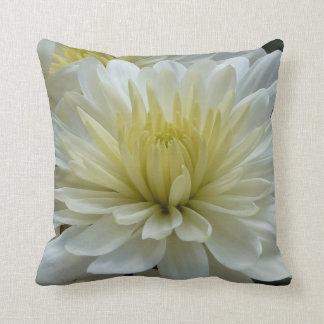 Beautiful White Mum Throw Pillow