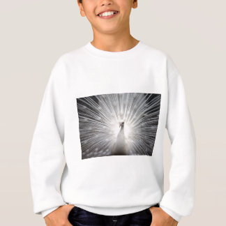 Beautiful white peacock sweatshirt