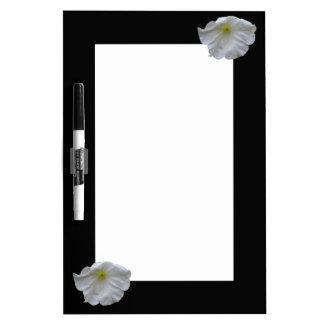 Beautiful White Petunia Memo Board