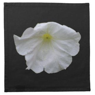 Beautiful White Petunia Napkin