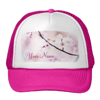Beautiful White Pink Cherry Blossoms Sunshine Tree Cap