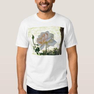 Beautiful white rose flower tshirt