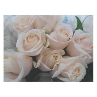 Beautiful White Roses Tablecloth