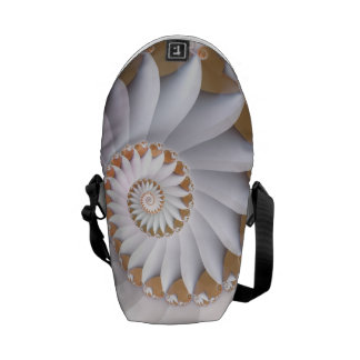 Beautiful White Sea Shell Abstract Pattern Messenger Bag