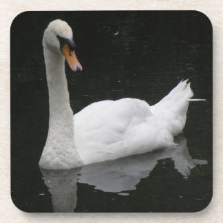Beautiful White Swan Cork Coaster