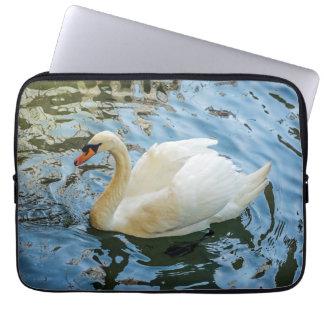 Beautiful white swan laptop sleeve