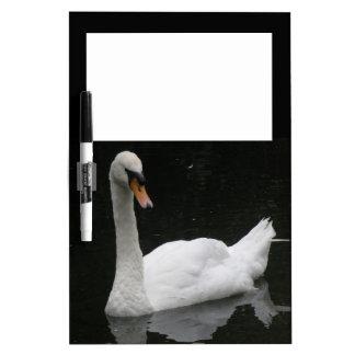 Beautiful White Swan Memo Board