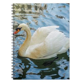 Beautiful white swan notebook