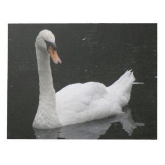 Beautiful White Swan Notepad