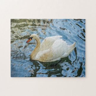 Beautiful white swan photo puzzle