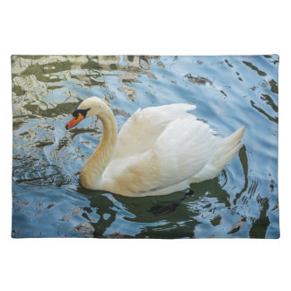 Beautiful white swan placemat