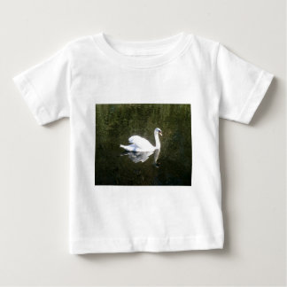 Beautiful White Swan Reflecting On The River Baby T-Shirt