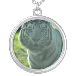 Beautiful white tiger personalized necklace