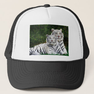 Beautiful White Tigers Trucker Hat