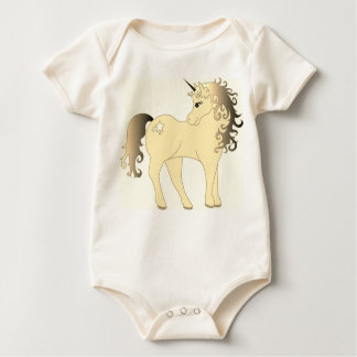 Beautiful White Unicorn Baby Bodysuit