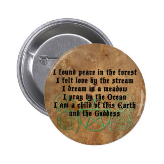 Beautiful Wiccan Poem 6 Cm Round Badge