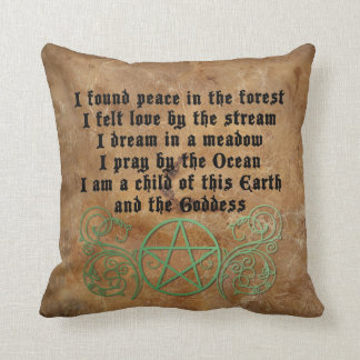 Beautiful Wiccan poem Cushion