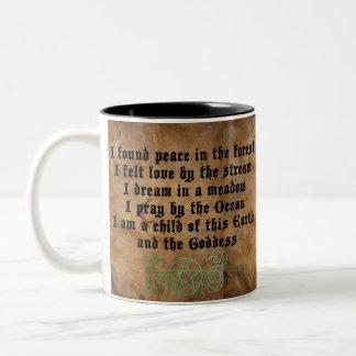 Beautiful Wiccan poem Two-Tone Mug