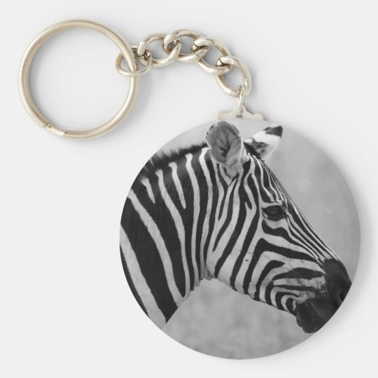 Beautiful wild black and white zebra design key
