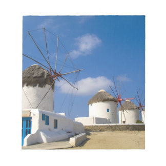 Beautiful windmills on the island of Mykonos, Notepad