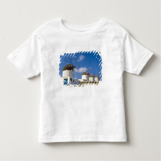 Beautiful windmills on the island of Mykonos, T Shirts