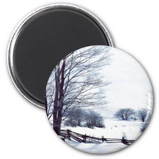 Beautiful Winter Day 6 Cm Round Magnet
