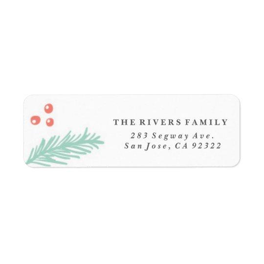 Beautiful Winter Frame Holiday Label Return Address Label