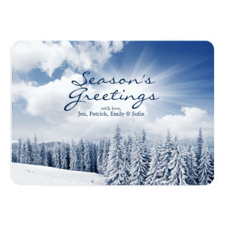 Beautiful Winter Landscape With Snow Card
