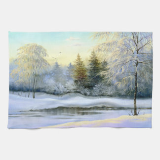 Beautiful Winter Painting Kitchen Towel