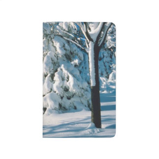 Beautiful Winter Snow Covered Forest Scenic Rustic Journal