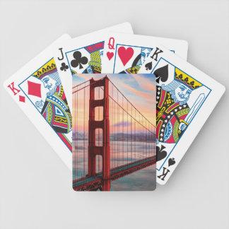 Beautiful winter sunset at Golden Gate Bridge Bicycle Playing Cards