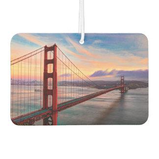 Beautiful winter sunset at Golden Gate Bridge Car Air Freshener