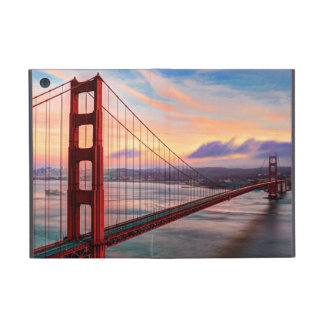 Beautiful winter sunset at Golden Gate Bridge Cover For iPad Mini