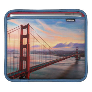Beautiful winter sunset at Golden Gate Bridge iPad Sleeve