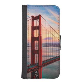 Beautiful winter sunset at Golden Gate Bridge iPhone SE/5/5s Wallet Case