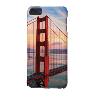 Beautiful winter sunset at Golden Gate Bridge iPod Touch (5th Generation) Cases