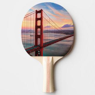 Beautiful winter sunset at Golden Gate Bridge Ping Pong Paddle