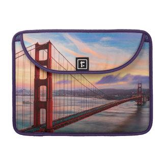 Beautiful winter sunset at Golden Gate Bridge Sleeve For MacBook Pro