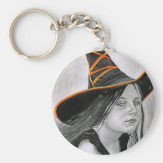 Beautiful Witch Halloween Keychain