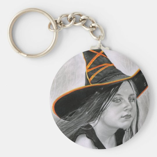Beautiful Witch Halloween Keychain