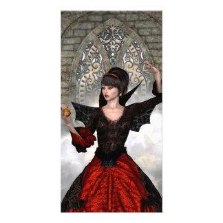 Beautiful Witch Customized Photo Card