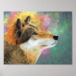 Beautiful Wolf Poster