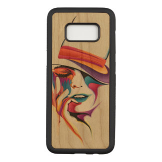 Beautiful woman art carved samsung galaxy s8 case