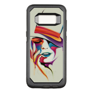 Beautiful woman art OtterBox commuter samsung galaxy s8 case