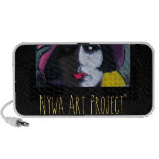 Beautiful woman - Art Portable Speakers